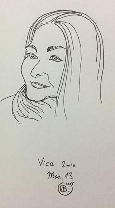 Drawn portrait liner Ukraine Super sketch Sketchers portrait
