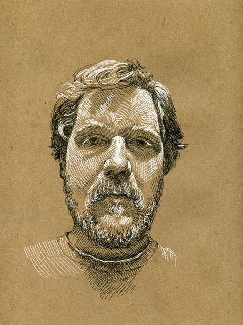 Drawn portrait liner Https://flic brown on Art 3