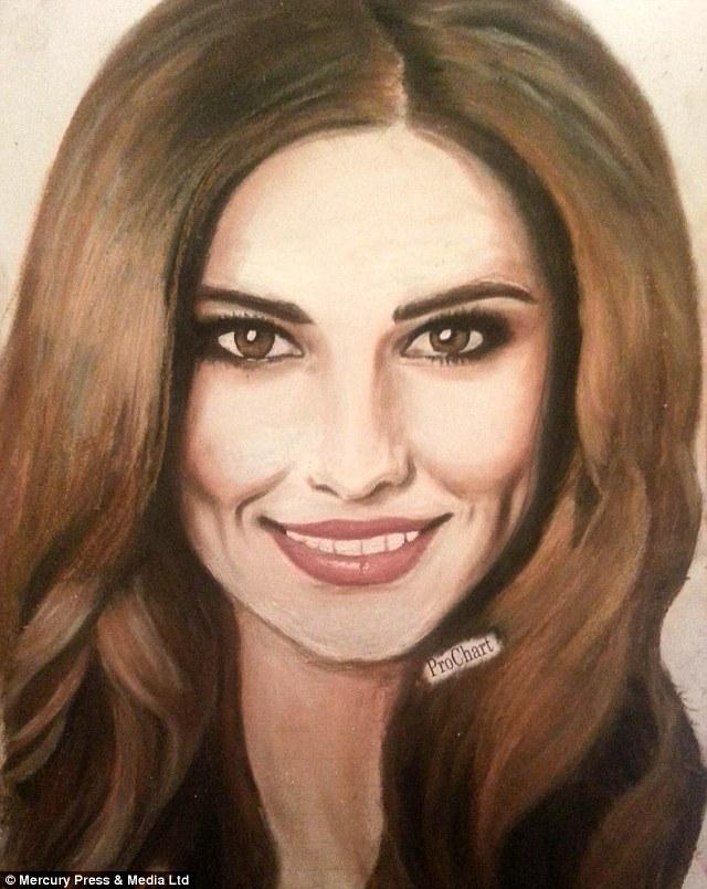 Drawn portrait liner Maxine Maxine of draws tricks