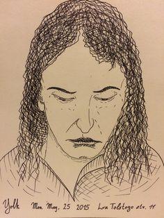 Drawn portrait liner Taras #inktober #ink by #portrait