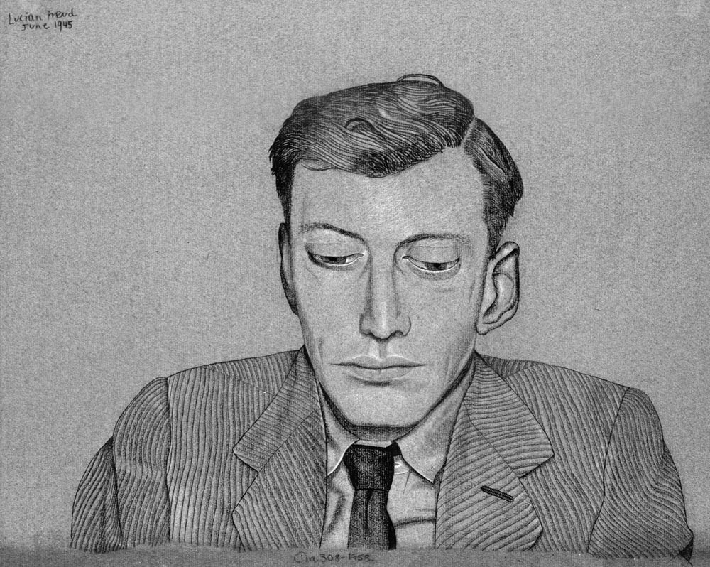 Drawn portrait lucian freud Shoulders 1945 of and Watson