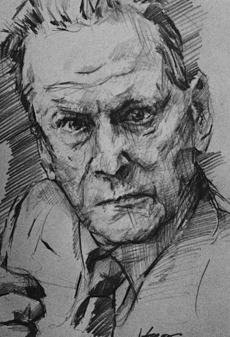 Drawn portrait lucian freud Jono Drawing Freud Lucian by