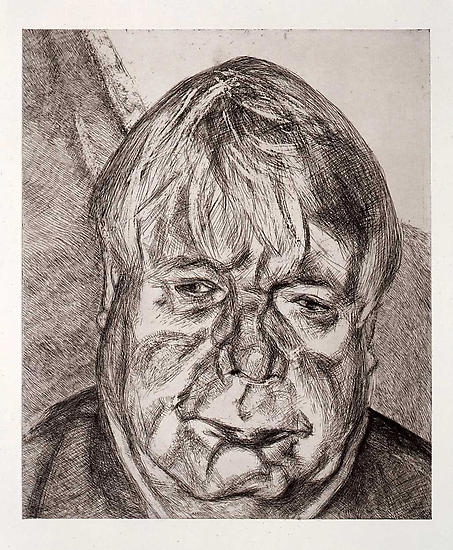 Drawn portrait lucian freud Acquavella Artists Freud Galleries Freud