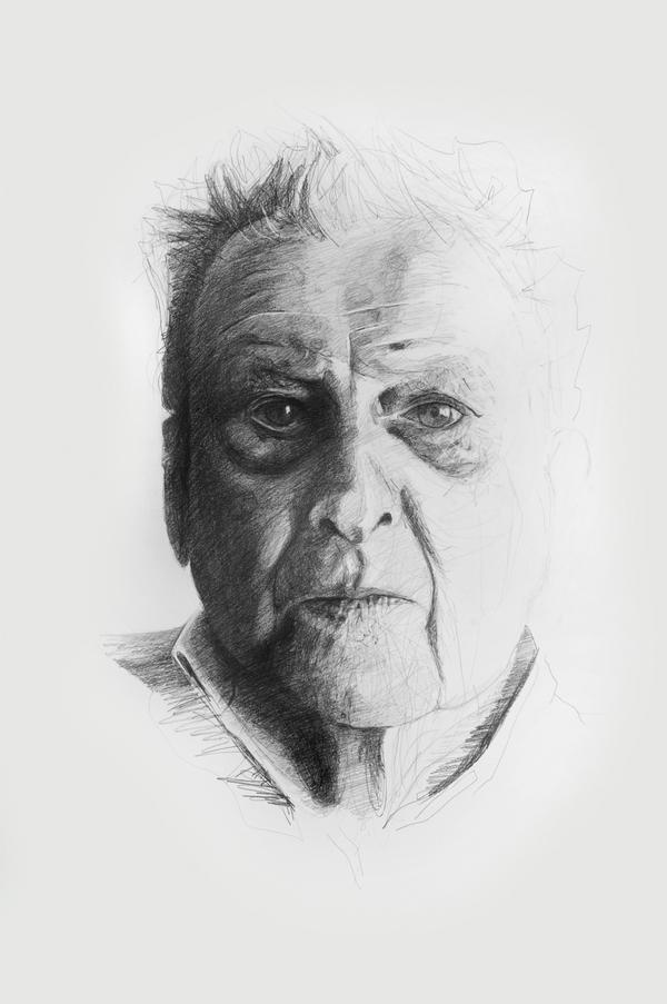Drawn portrait lucian freud Pencil drawing Lucian on Pencil
