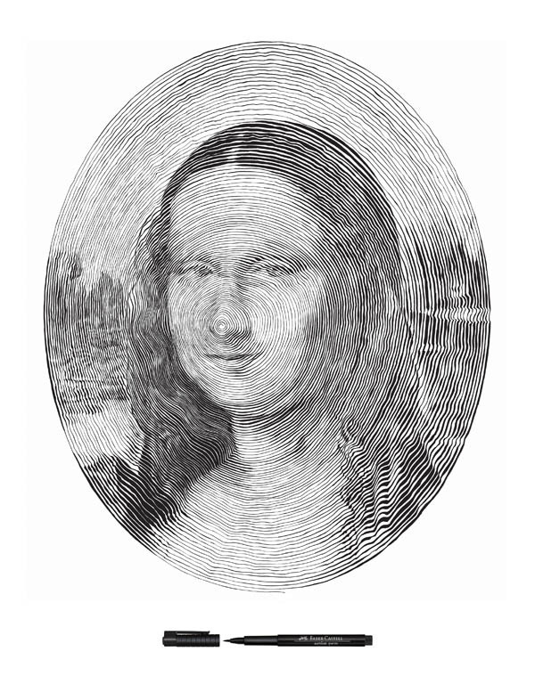 Drawn portrait made Portraits 1 single Made outward