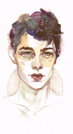 Drawn portrait male face Via Geometric Kunath Beautiful Behance