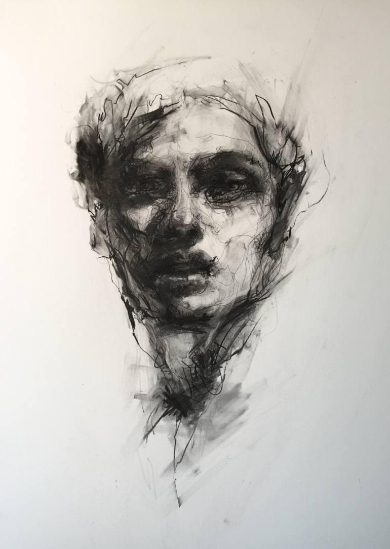 Drawn portrait male face Drawing Saatchi Portrait Saatchi #1
