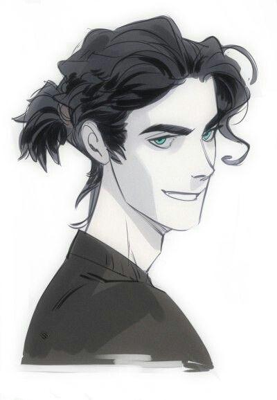 Drawn portrait male hair Me  el Best Pinterest