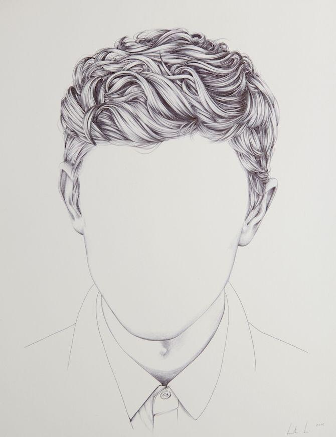 Drawn portrait male hair Portraits Les 25+ de Pinterest