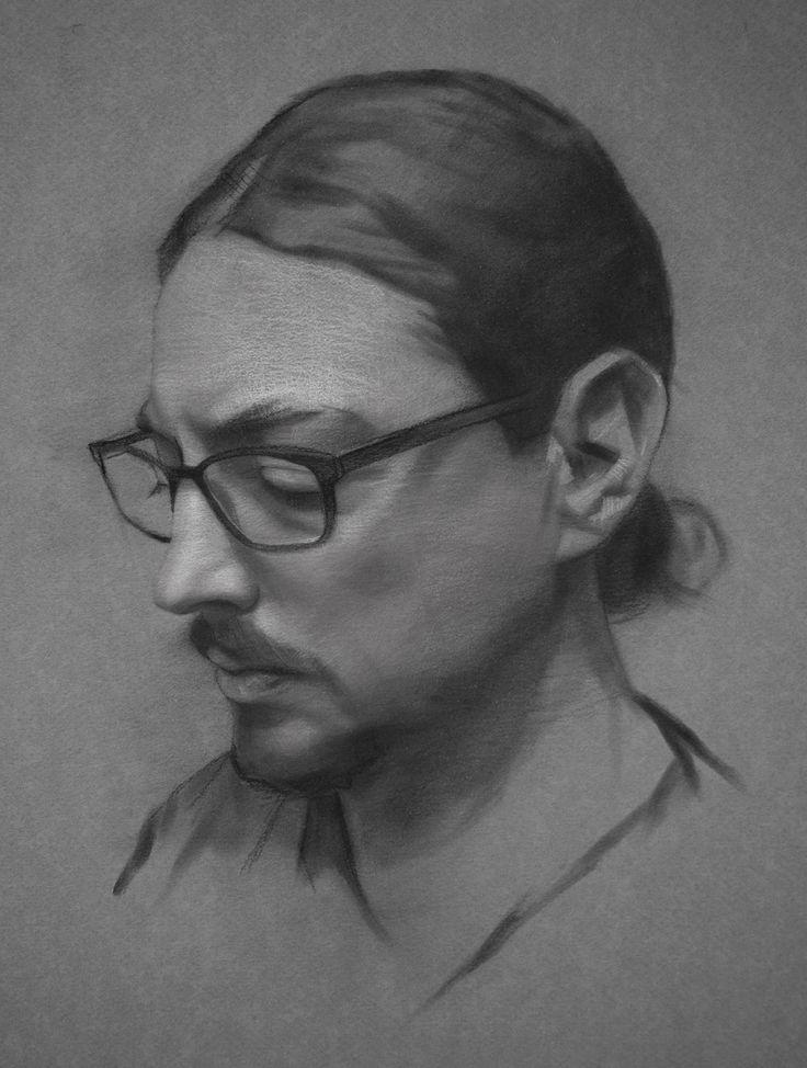 Drawn portrait male hair Portrait