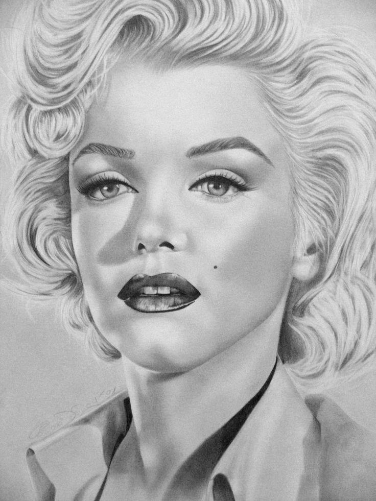 Drawn portrait marilyn monroe Monroe on deviantART image pinned