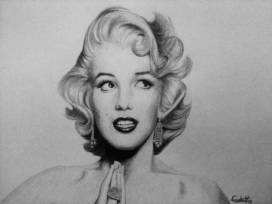 Drawn portrait marilyn monroe Monroe by velasquez First Monroe