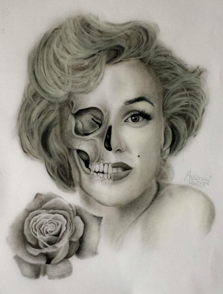 Drawn portrait marilyn monroe Red Red Art Monroe Marilyn