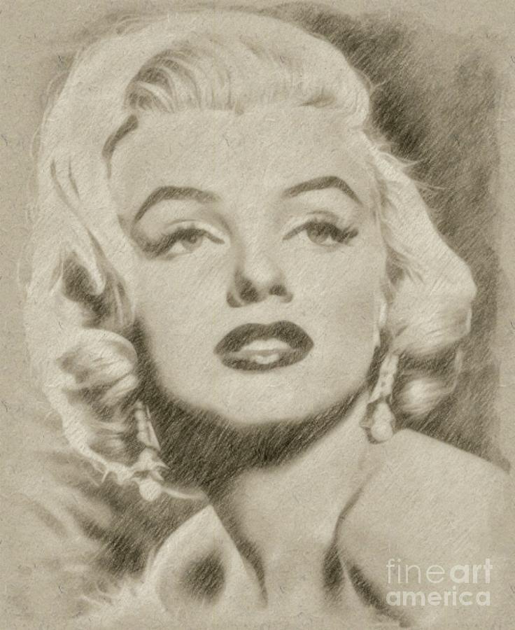 Drawn portrait marilyn monroe Drawings Vintage Actress Frank Marilyn