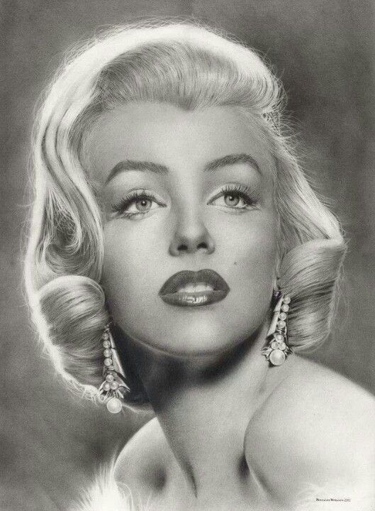 Drawn portrait marilyn monroe 25+ Marilyn drawing Pencil monroe