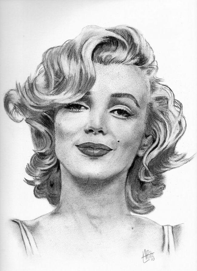 Drawn portrait marilyn monroe Marilyn ! monroe♥ Drawing Marlin