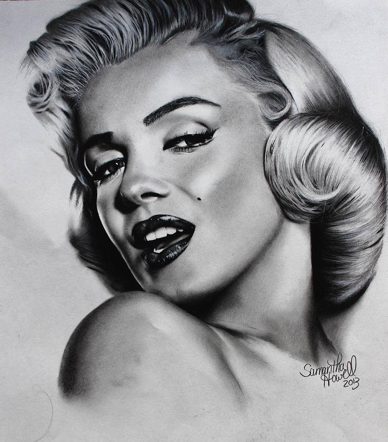 Drawn portrait marilyn monroe Howell by Howell Monroe Marilyn