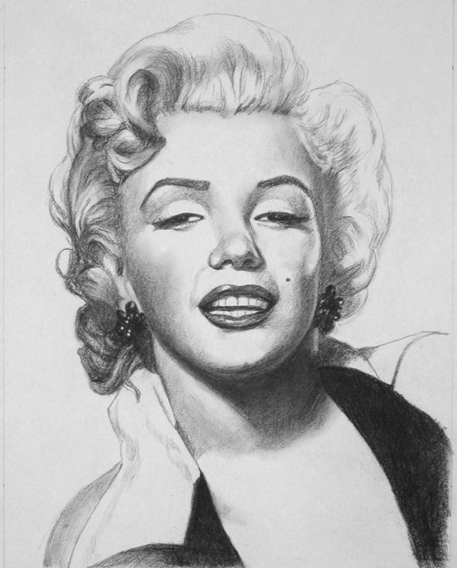 Drawn portrait marilyn monroe Painting Marilyn Portrait From Marilyn