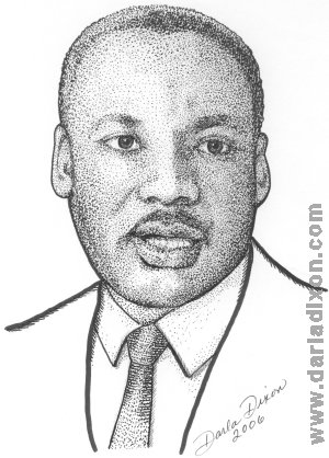 Drawn portrait martin luther king Luther king portrait Portraits Ink