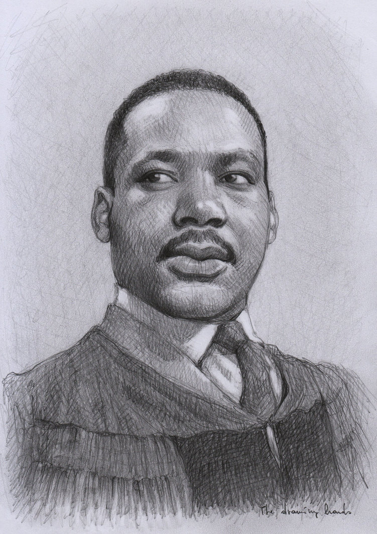 Drawn portrait martin luther king Drawing Jr Projects and Martin