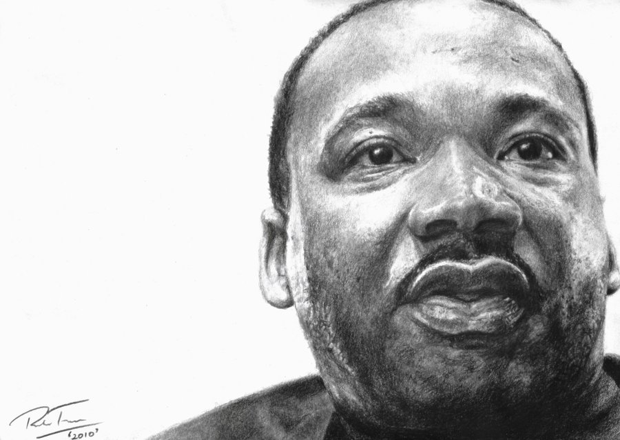 Drawn portrait martin luther king Luther DeviantArt King earlierbirdscenic by