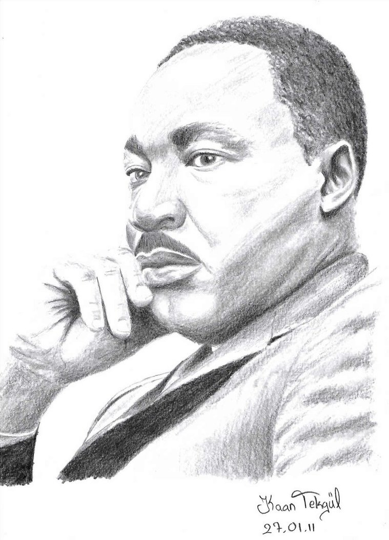 Drawn portrait martin luther king Martin a Luther a Luther