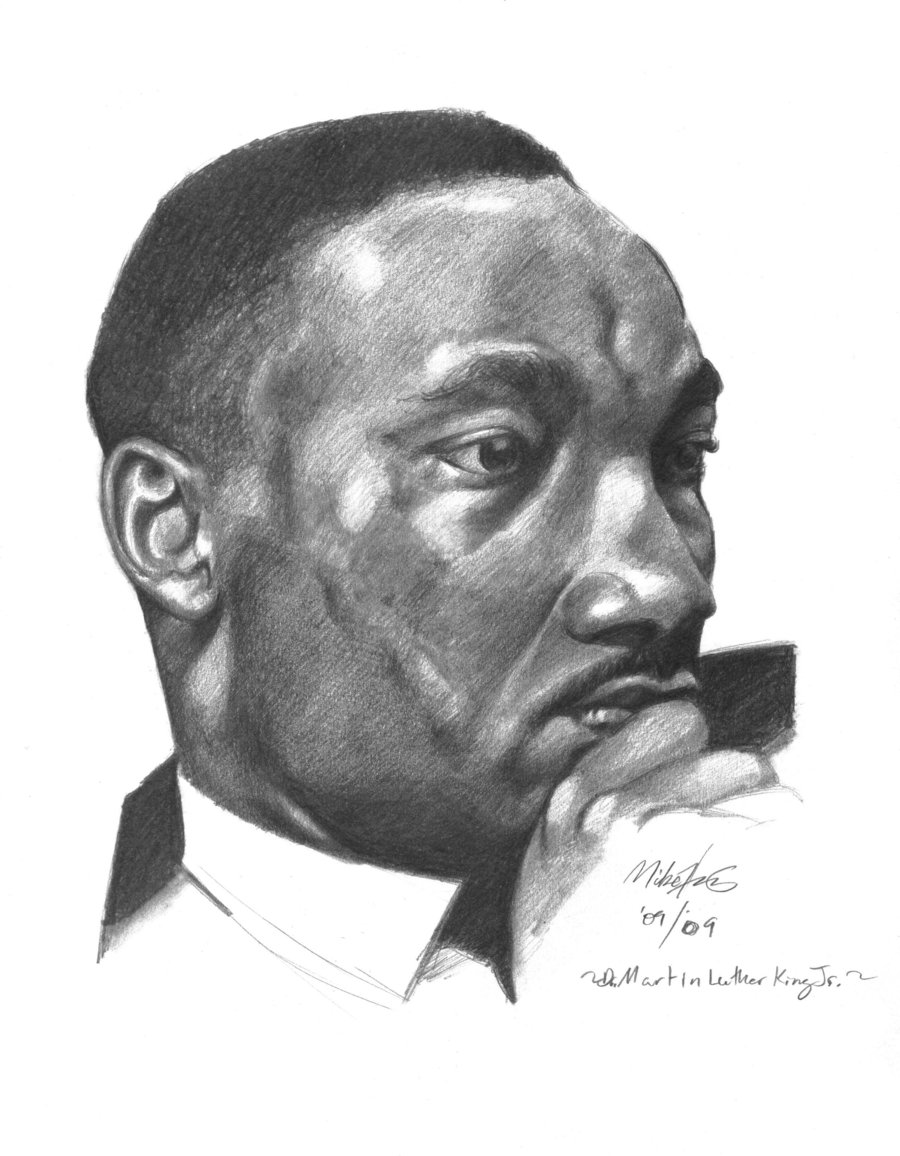 Drawn portrait martin luther king King Martin King Luther Dr