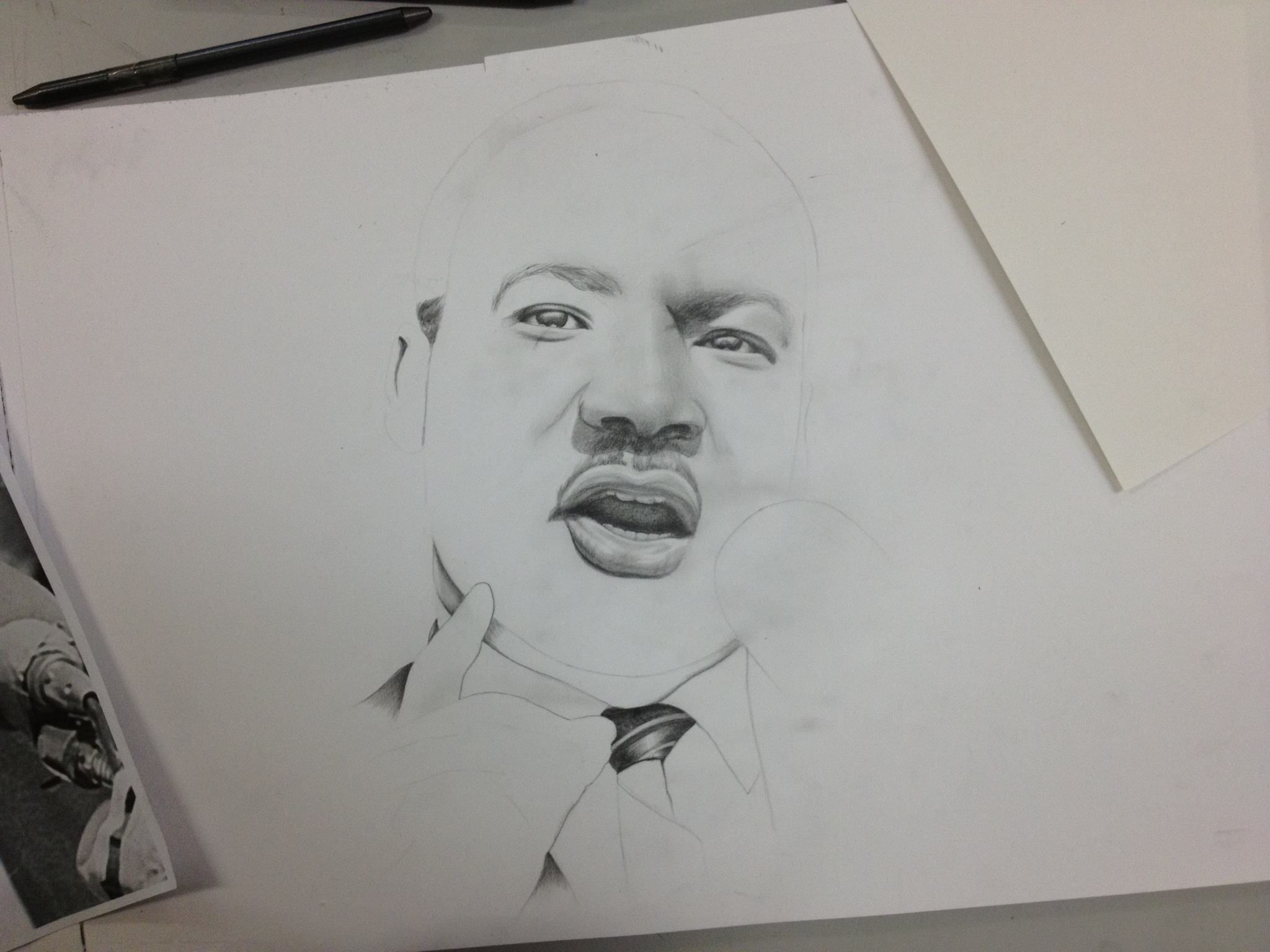 Drawn portrait martin luther king New King Drawing Luther –