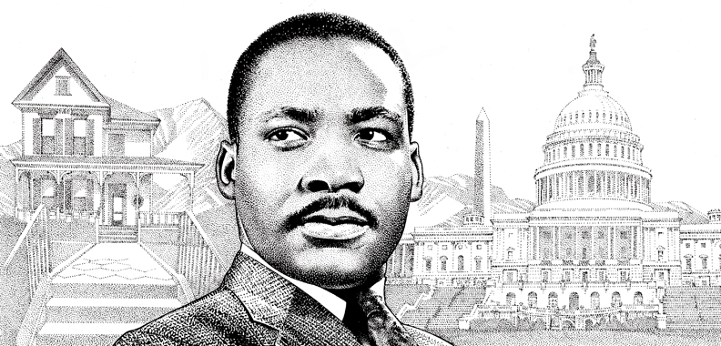 Drawn portrait martin luther king Luther Jr King Ink Martin
