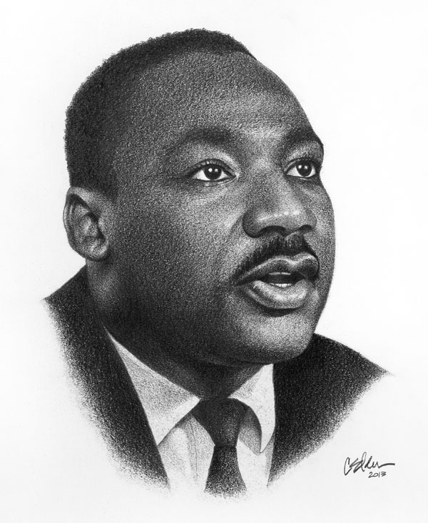 Drawn portrait martin luther king This Luther Pin on Luther
