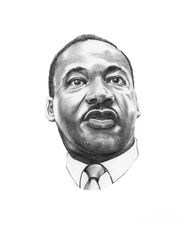 Drawn portrait martin luther king Drawing Drawing Dr King Martin