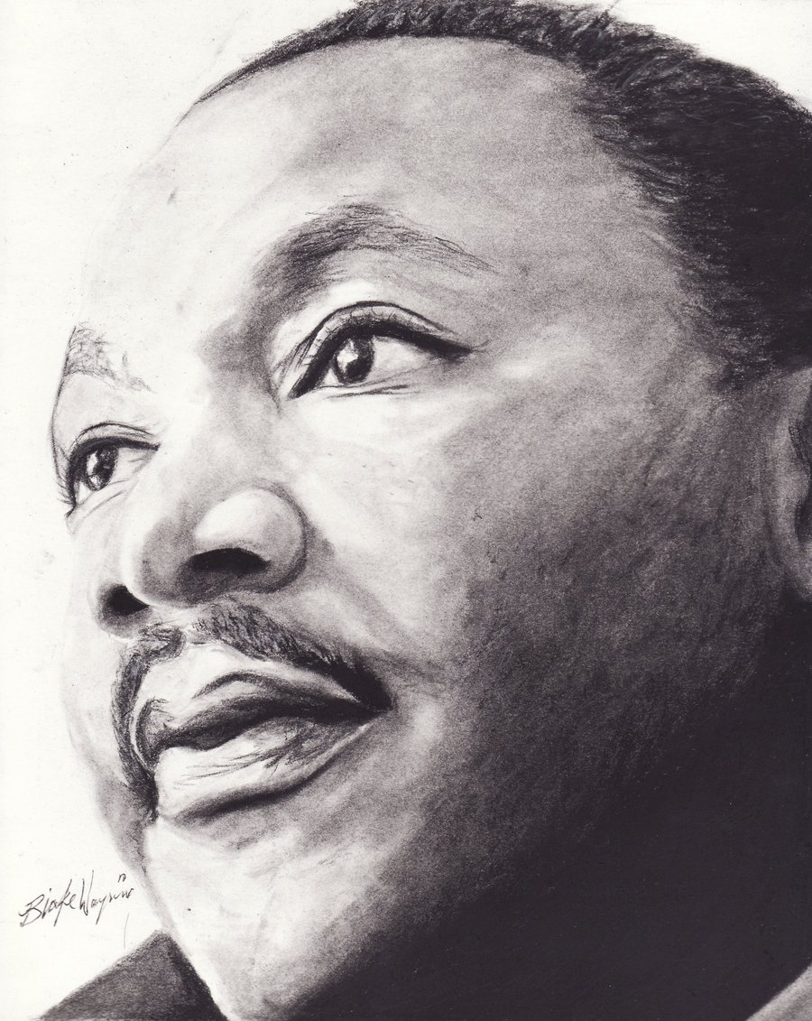 Drawn portrait martin luther king Martin on Luther by Jr