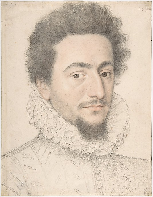 Drawn portrait master A Man Anonymous of French