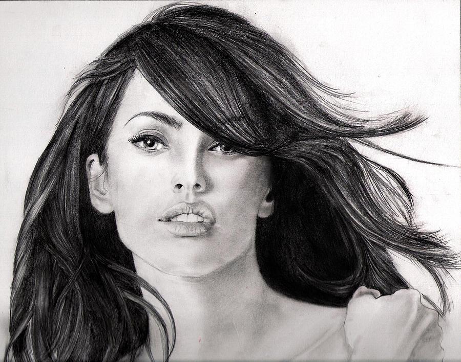 Drawn portrait megan fox Noor Noor Megan Drawing by