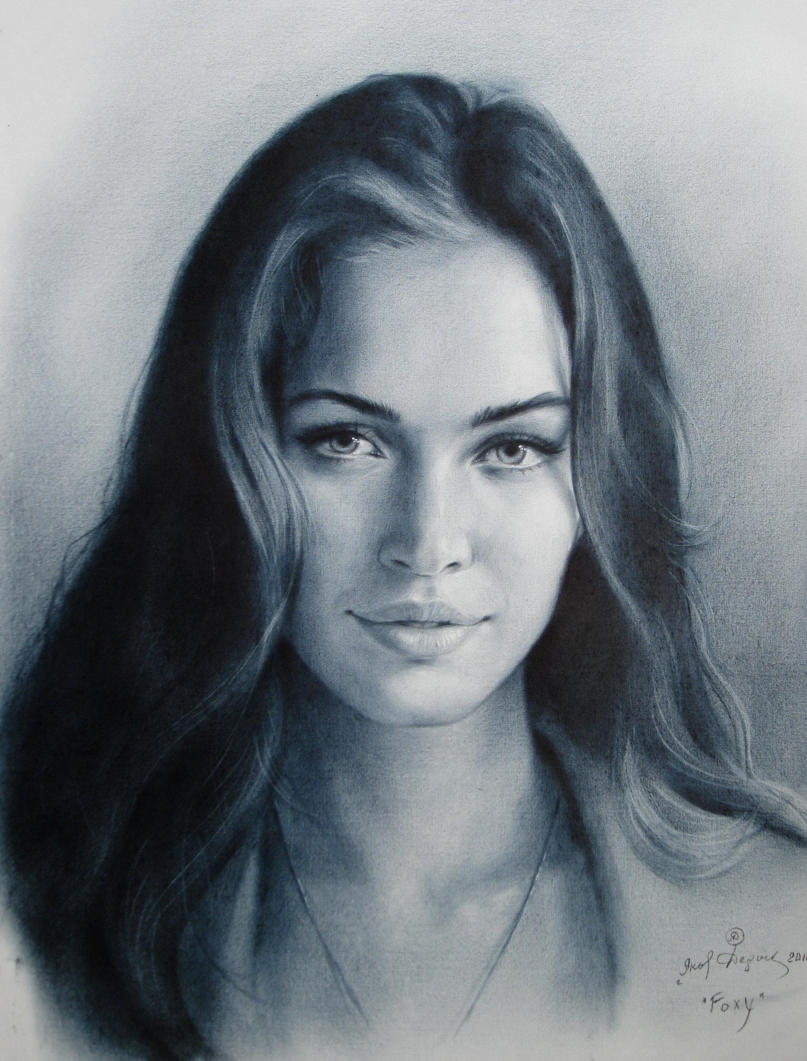 Drawn portrait megan fox Realistic Drawing Drawing Megan Megan