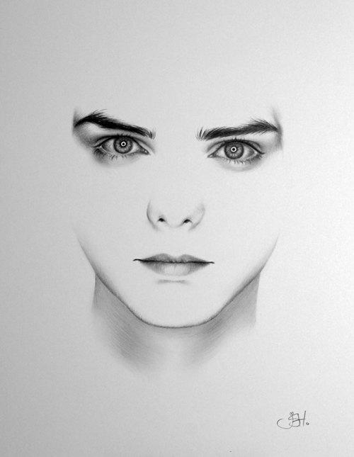 Drawn portrait minimal Fine Classic PRINT Art 1930s