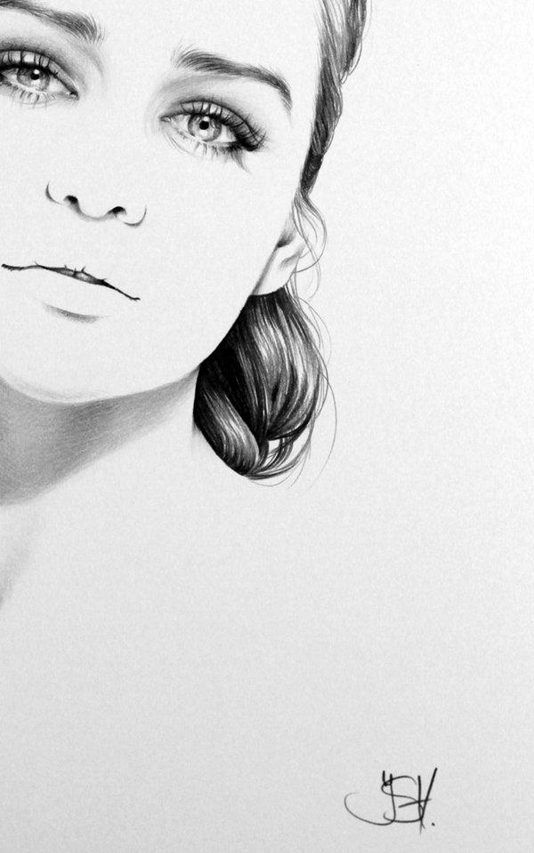 Drawn portrait minimal Created Of Celebrities Created Female