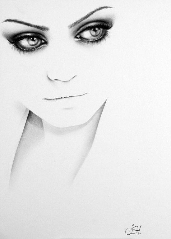 Drawn portrait minimalistic *UltRa ReaListic best on images