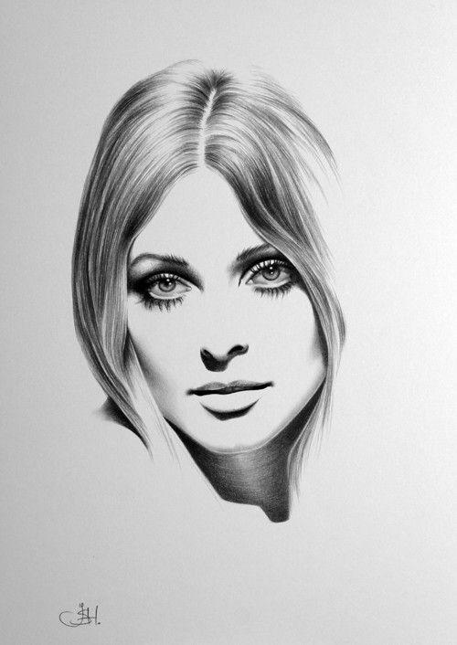 Drawn portrait minimalistic Pencil Drawing Minimalism Drawings Portraits