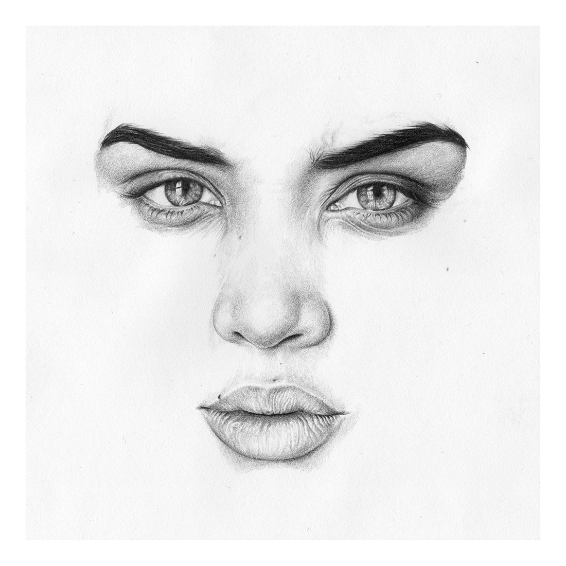 Drawn portrait minimalistic Drawings of Abe Design Realistic