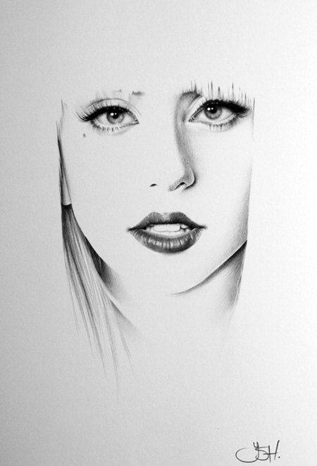 Drawn portrait minimalistic Pencil Drawing Minimalism Print Portrait