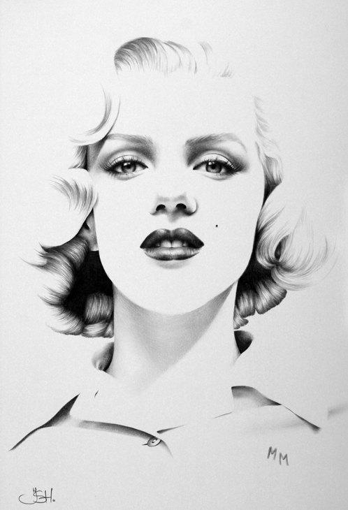 Drawn portrait minimalistic Drawing Fine Pencil Hand Print
