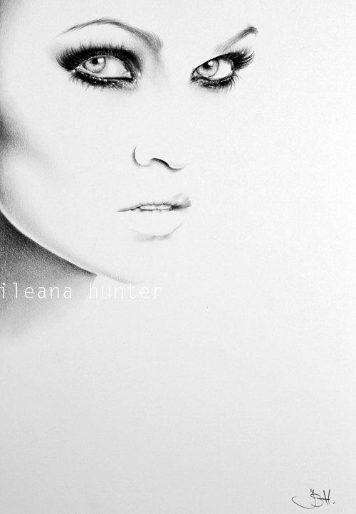 Drawn portrait minimalistic Tarja Turunen item? Fine Minimalism