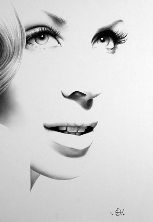 Drawn portrait minimalistic Fine Art Minimalism Print Portrait