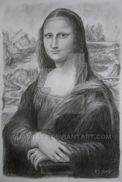 Drawn portrait mona lisa Pencil by by drawing Mona