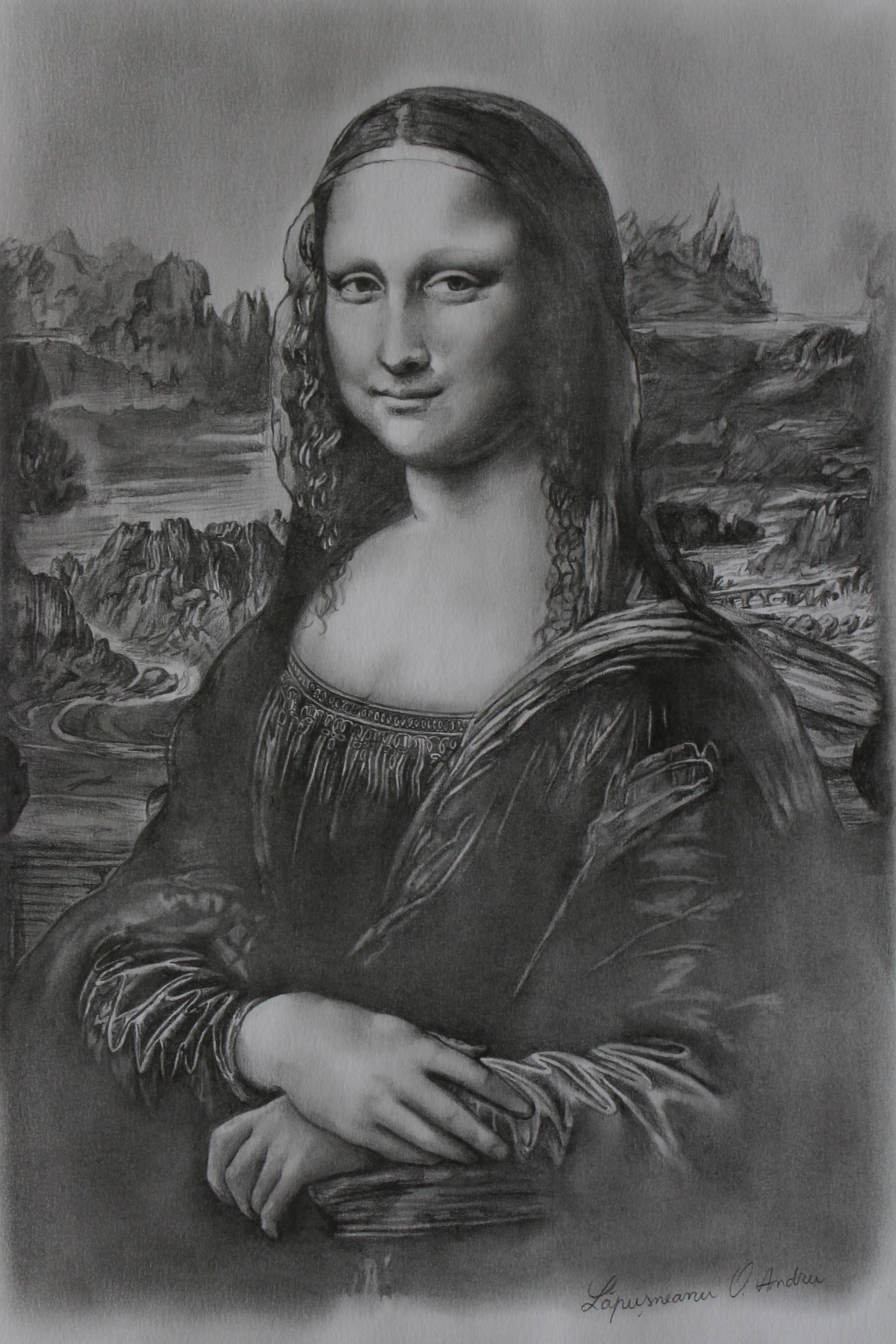 Drawn portrait mona lisa Lisa Lisa by DeviantArt by