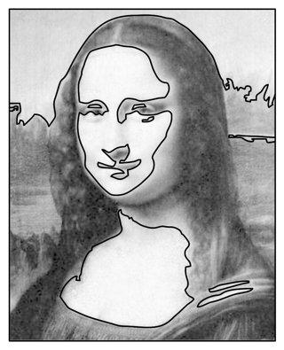 Drawn portrait mona lisa Portrait Portrait and 2 Dark