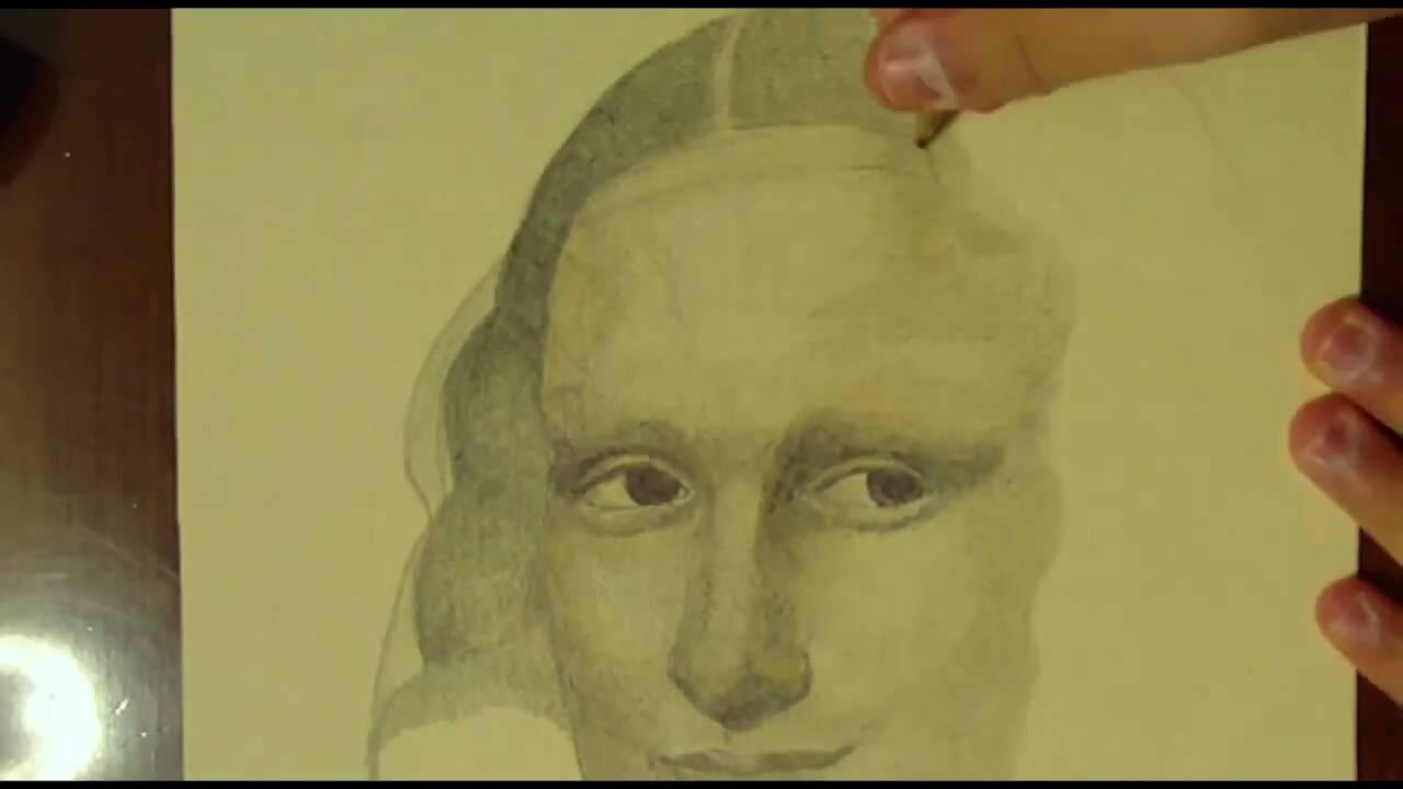 Drawn portrait mona lisa Mona Mona Pencils Pen Painting