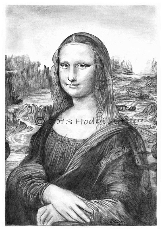 Drawn portrait mona lisa Lisa Lisa £25 8x12 Gioconda