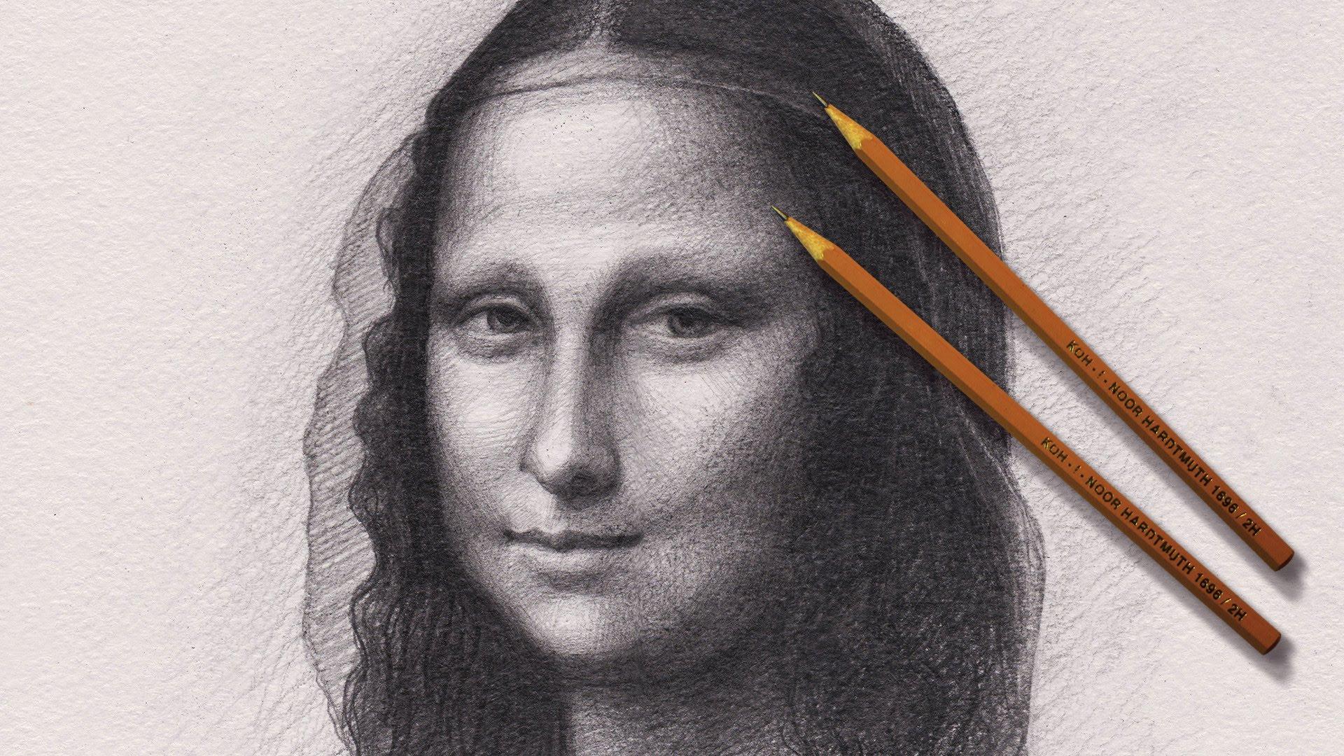 Drawn portrait mona lisa Lisa Лиза YouTube Лиза Lapse
